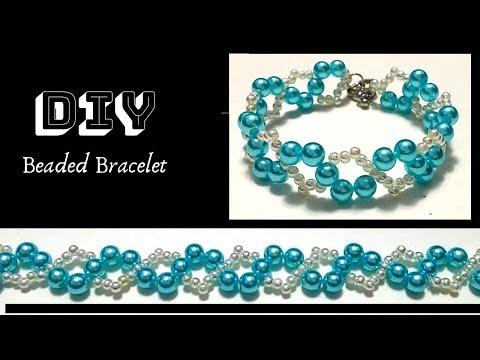 How to make beaded bracelets. Beginner beading pattern. Bracelet tutorial