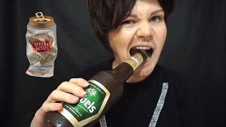 АСМР | Кавказский Папа пробует Итинг | Asmr | Eating Beer Bottle