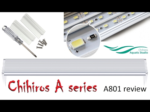 Chihiros A801 – Setup, Test, In depth review (white) LED light unit for freshwater planted aquarium