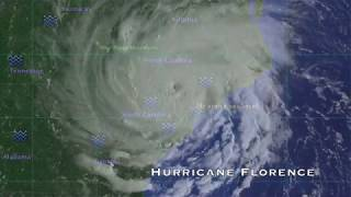 Florence landfall simulation showing areas MOST affected by initial rain bands!
