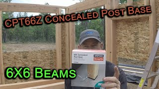 6X6 concealed post bracket, Simpson Strong-tie CPT66Z