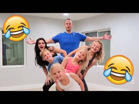 FAMILY GYMNASTICS CHALLENGE   HILARIOUSLY EMBARRASSING