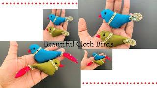 Make Easy Cloth Birds For Decorations/ Bird Cage Decorations/ Beautiful Cloth Birds/ Lockdown Craft