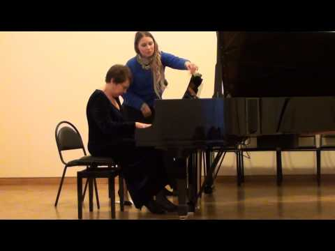 F. Poulenc. Sonata for two pianos (mov. 1-3)