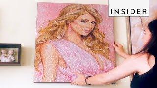 Artist Creates Glitter Portraits