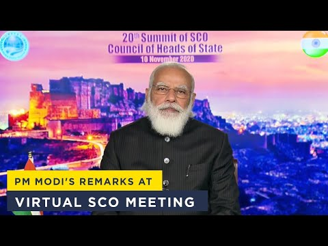 PM Modi's remarks at virtual SCO meeting
