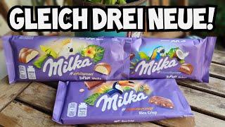 Milka Schokolade hoch drei: Luflée weiße, Kokos und Rice Crisp   Welche ist die beste?!