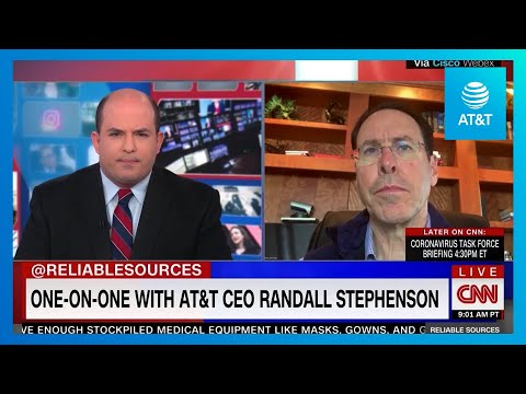 AT&T CEO Randall Stephenson Provides Update on CNN's Reliable Sources-youtubevideotext