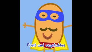 Peppa Pig's Fruit and Vegetables Song #Shorts #Peppa #PeppaPig