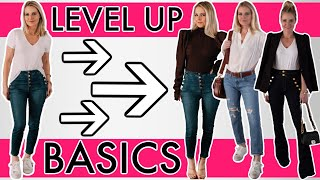 How to Elevate 3 Wardrobe Basics into 3 STYLISH outfits *WITHOUT* Buying More