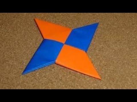 como hacer una estrella ninja de papel