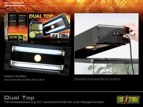 EXO TERRA - Dual Top Terrarienabdeckung für Leuchtstoffröhren und Halogenlampen