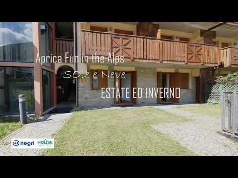 Video - Bilocale centro aprica con giardino privato