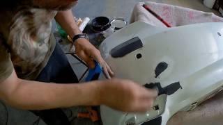 ремонт бампера тойота камри.