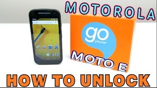 How to Unlock Motorola Moto E EVERY Network (Consumer Cellular, AT&T, O2, Bell, T-Mobile, ETC)