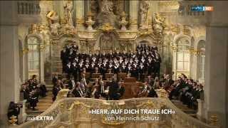 Dresdner Kreuzchor Herr auf dich traue ich Heinrich Schütz MDR extra Gedenken und Mahnen 13.2.15