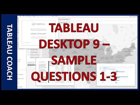 Tableau Desktop 9 - Sample: Questions #1-3 - YouTube