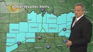 Some Snow And Ice Headed To North Texas