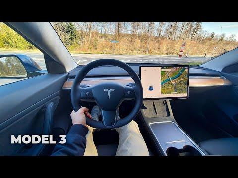 Tesla Model 3 Long Range Facelift 2021 Test Drive Review POV