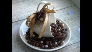 Топиарий из зерен кофе своими руками