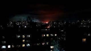 Сильный пожар в Октябрьском районе Новосибирска