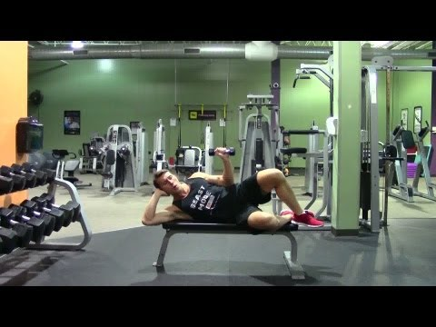 Lying Dumbbell External Rotation - HASfit Rotator Cuff Exercise Demonstration - Exercises