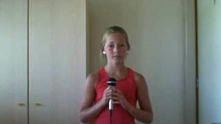 "Karlijn sings ""I don't wanna hurt"" by Anouk"