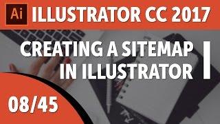 Creating a sitemap in Illustrator - Adobe Illustrator CC 2017 Course [08/45]