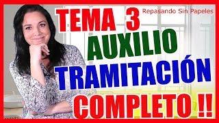 TEMARIO AUXILIO JUDICIAL 📚 TEMARIO TRAMITACIÓN PROCESAL 📒Oposiciones Justicia 2019