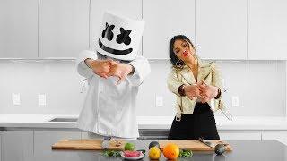 Marshmello & Nicole Scherzinger Make Hawaiian Poke Bowls | Cooking with Marshmello