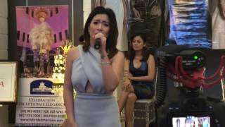 Angeline Quinto performs Kunin Mo Na Ang Lahat Sa Akin at the Divas Live in Manila PressCon