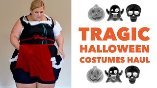 Tragic Plus Size Haul: Trying on Halloween Costumes I Ordered Online