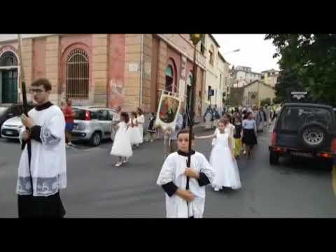 CELEBRATA A DOLCEDO LA RICORRENZA DEL SACRO CUORE CON LA BANDA CITTA' DI ALASSIO