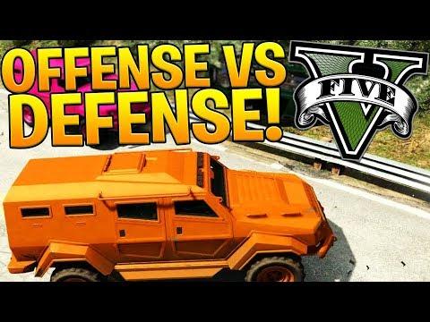 OFFENSE VS DEFENSE - GTA 5 ONLINE FUNNY MOMENTS