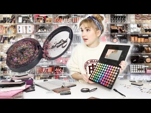 MIXING ALL MY EYESHADOWS TOGETHER | Wearing the Final Product!!