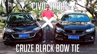 Comparativo: Civic Sport x Cruze Black Bow Tie