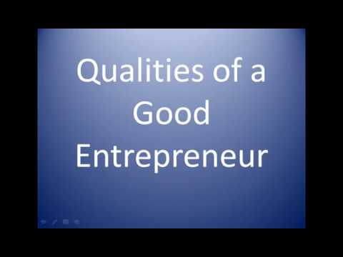 Qualities of a successful/good entrepreneur - HSC, Class 12/11/10/9