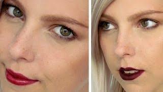 Jak Zazářit s Tmavými Rty / How To Rock Dark Lips Makeup Tutorial