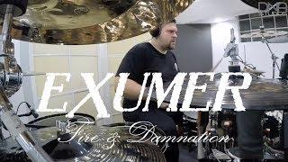 """Exumer """"Fire & Damnation"""" (DRUM PLAYTHROUGH)"""