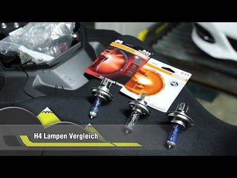 Osram Night Racer H4 & Original Birne im Test   Yamaha MT07