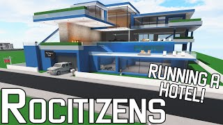 RUNNING A HOTEL!!    ROBLOX - RoCitizens