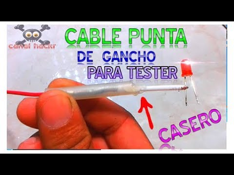 como hacer cables tipo gancho para tester o multimetro facil