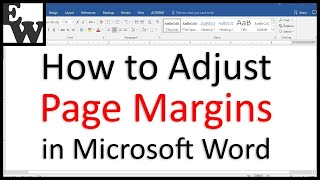 How to Adjust Page Margins in Microsoft Word