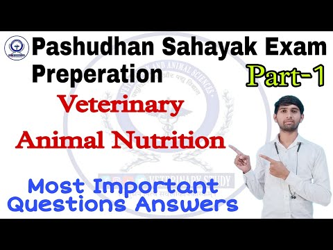 Veterinary Animal Nutrition, LSA & AHDP Exam preparation Online Classes 2021-22, Most Important Q.An