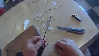 Крепление бокового кивка к летней удочке с кольцами