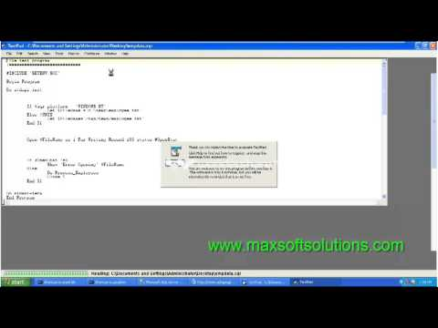 Peoplesoft Hrms Online Training session   SQR topic introduction ...
