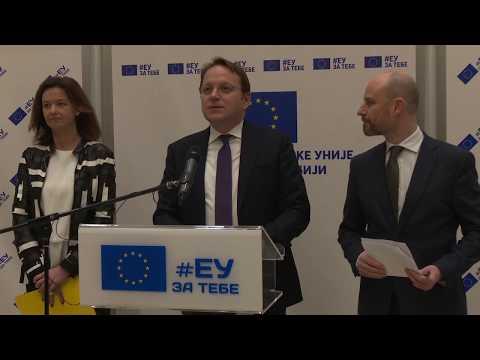 Press conference of Commissioner Várhelyi and MEPs