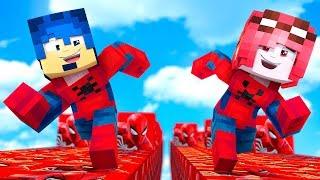 Minecraft ITA - LA CORSA DEI LUCKYBLOCK DI SPIDER-MAN!!