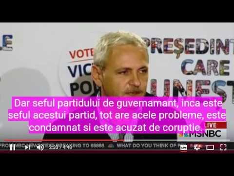 MSNBC (post TV de baza din America) despre coruptia din Romania