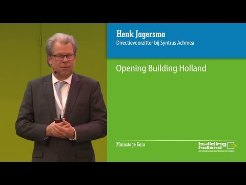Opening Building Holland door Henk Jagersma